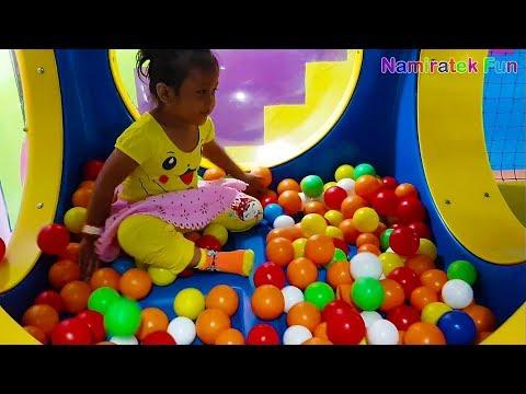 Wahana Bermain Mandi Bola Balon Anak & Perosotan - Play Area Indoor Playground kids zone trampoline