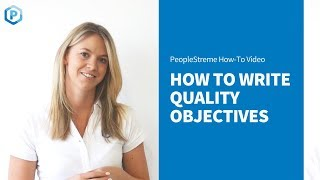 How to Write Quality Objectives