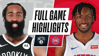 NETS at PISTONS | FULL GAME HIGHLIGHTS | March 26, 2021