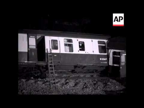 WEST EALING TRAIN CRASH - NIGHT SHOTS  - NO SOUND