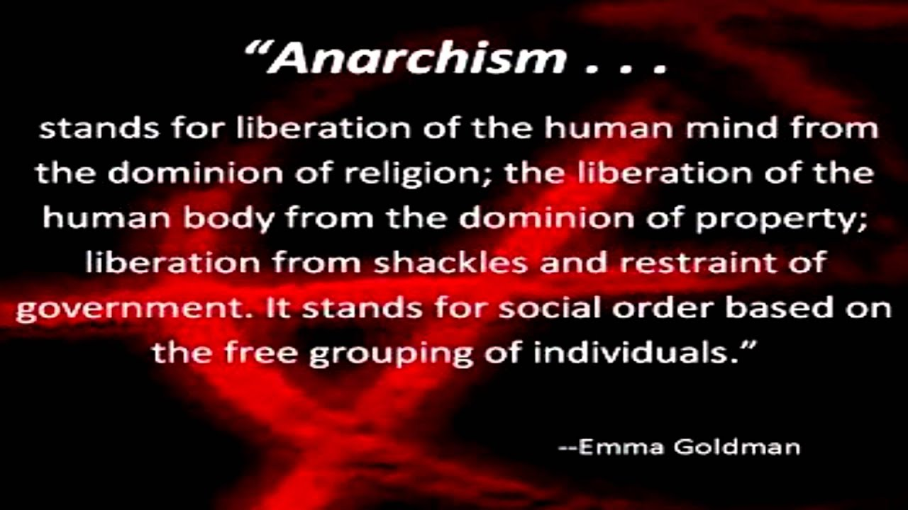 Anarchism   A Quote From Emma Goldman   YouTube