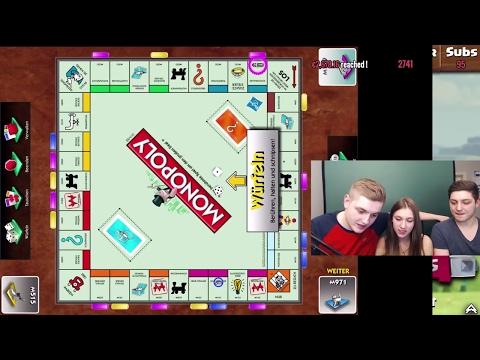 Spannende Monopoly-Runde mit Freundin und Bruder!  | Charity Stream