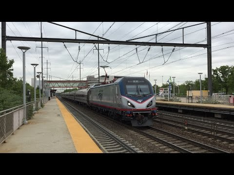 Amtrak HD 60 FPS: Siemens ACS-64 659 Leads Pennsylvanian Train 43 @ Hamilton w/ Horn Show (5/11/16)
