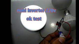 Cara membuat Mini inverter 1,5 volt to 220 volt - bagian 2