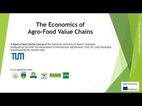 The Economics of the Agro-food Value Chains - Trailer - MOOC