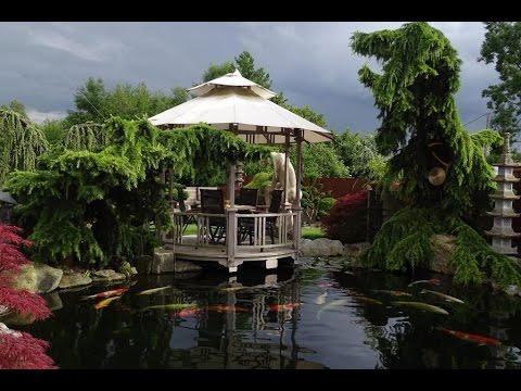 Japanischer Traumgarten Koi Und Skulpturen Youtube