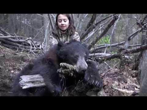 Little girl hunting