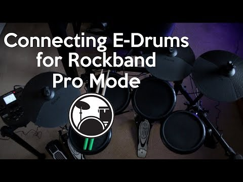 How To Connect E-Drums For Rockband 4 Pro Drumming On Xbox One/ PS4