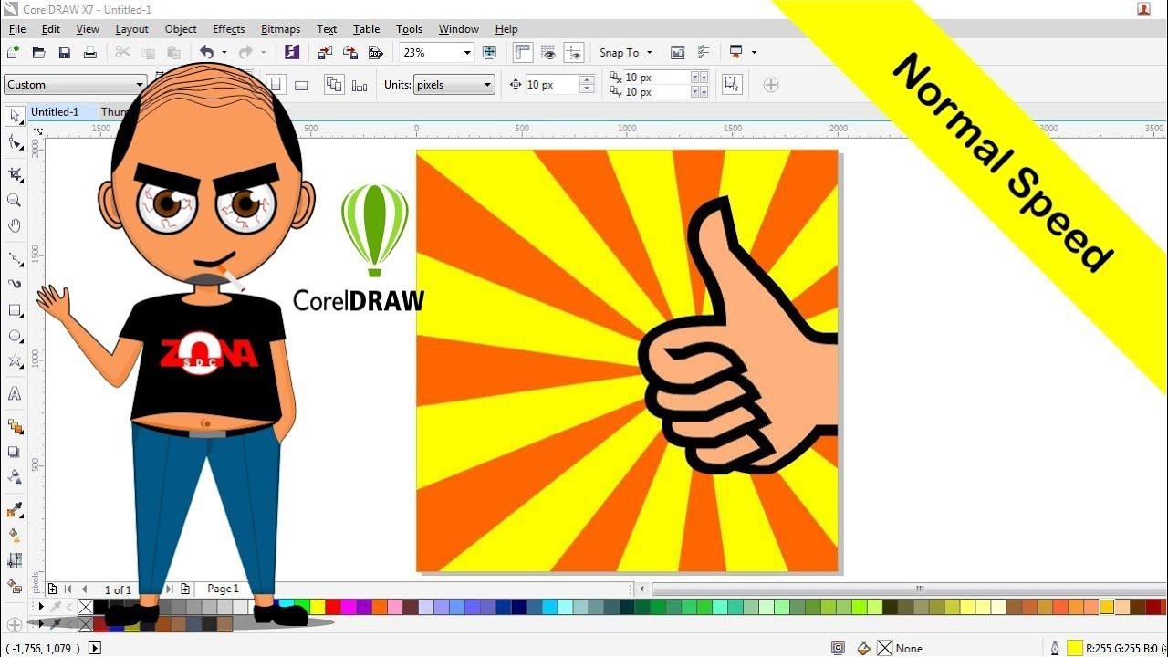 Cara Membuat Poster Keren Dengan Corel Draw X7 Normal Speed Youtube