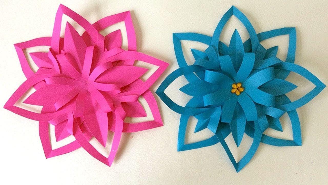 Craft With Paper - Adorable Paper Crafts - Paper flower Preschool Crafts, Preschool Ideas
