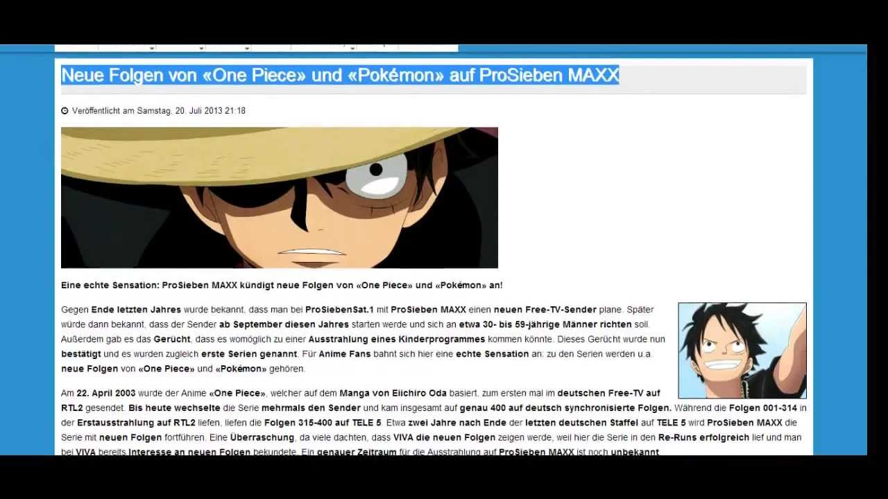 Neue Folgen One Piece