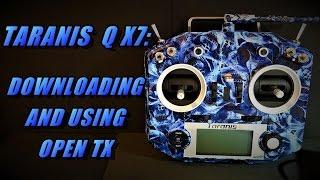taranis q x7 download using open tx companion