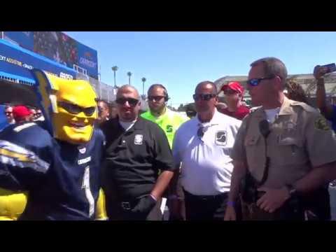 Boltman amid security at StubHub Center