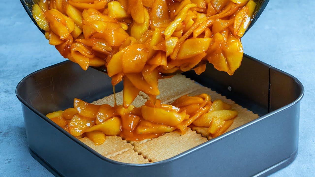 Galletas y 1,5 kg de manzanas - ¡Nos has probado una tarta tan rica antes!