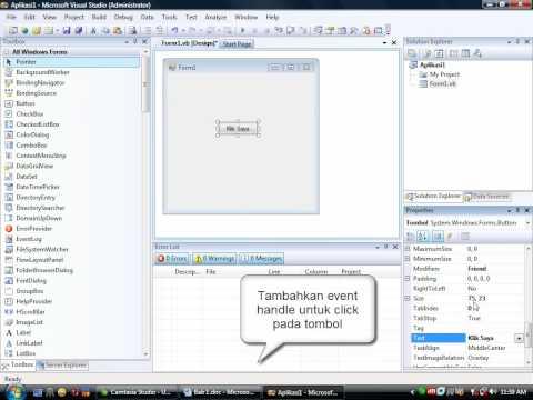 Cara Membuka Visual Basic