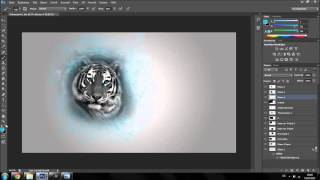 The Blue White Tiger | Speedart #144 by MrFxStudios | [HD]