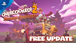 Overcooked! 2 - Spring Festival Available Now | PS4
