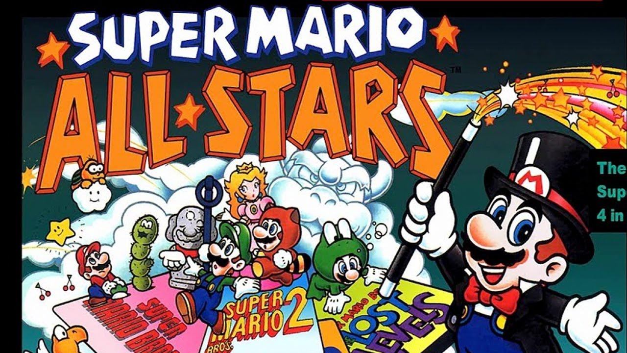 Super Mario All-Stars (SNES) Mario 1 2 3 Full Games - Mike Matei Live