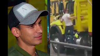 Habla conductor de camión que se llevó colgado a otro hombre en Bogotá - Ojo de la noche