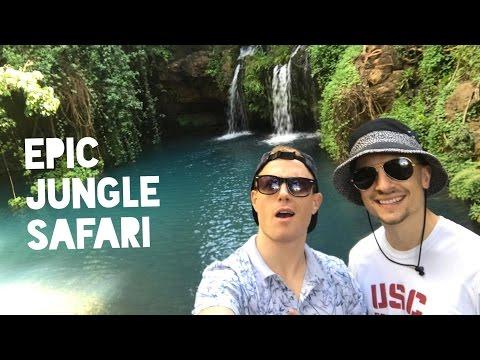 EPIC JUNGLE WATERFALL OASIS🌴 🇰🇪 Kenya Road Trip #3 – Equator @ Nanyuki Ngare Ndare Forest Safari