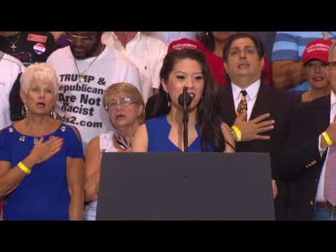 WOW AMAZING: The National Anthem at Donald Trump Rally in Phoenix, Arizona - AMAZING VOICE WATCH