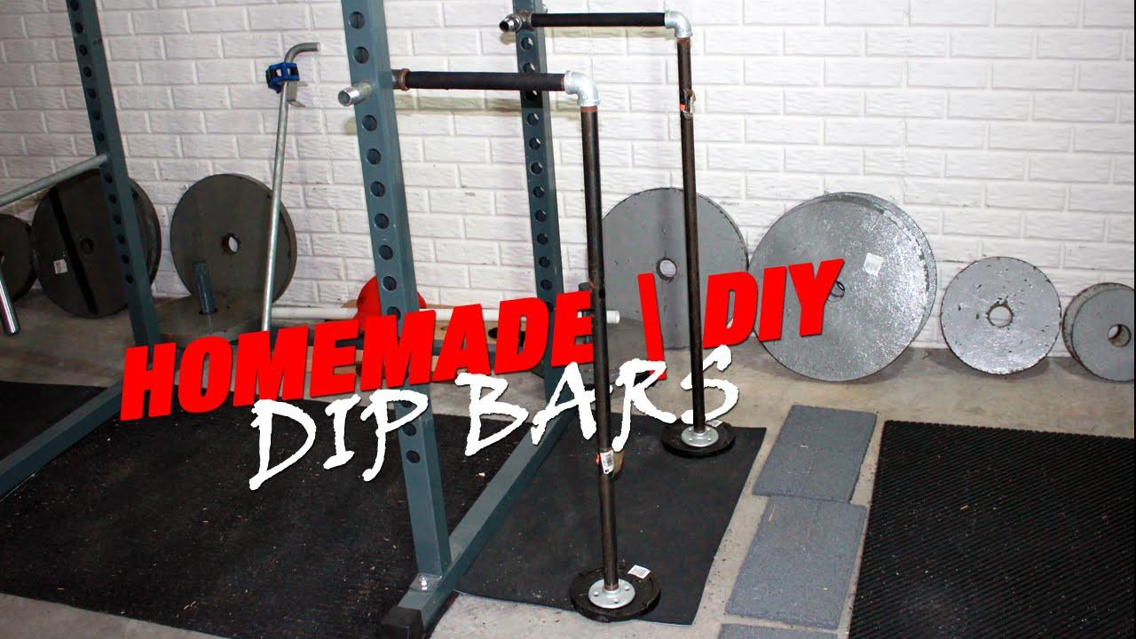 Homemade DIY Squat Power Rack Dip Bars