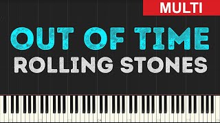 Rolling Stones - Out of Time (Instrumental Tutorial) [Synthesia]