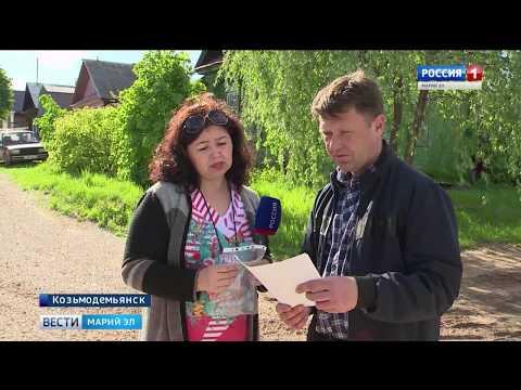 Жители Козьмодемьянска расстроены недолговечностью ремонта улицы Чапаева