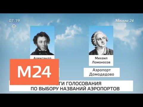 Аэропорты Шереметьево и Домодедово получат имена Пушкина и Ломоносова - Москва 24