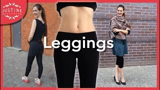 How to wear leggings + how to find good quality ones ǀ Justine Leconte