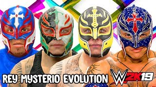 Rey Mysterio Ratings and Face Evolution (WCW vs NWO World Tour - WWE 2K19)