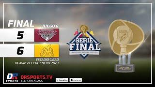 Resumen   Gigantes del Cibao vs Águilas Cibaeñas   17 ENE 2021   Serie Final Lidom