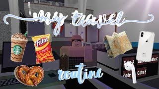 TRAVEL ROUTINE! | BLOXBURG ROBLOX