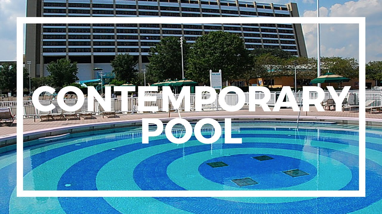 Contemporary Pool disney's contemporary resort pool - youtube