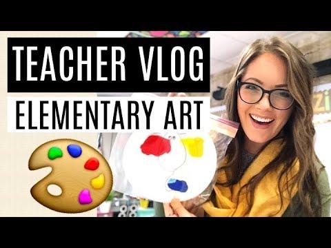 TEACHER VLOG | LIFE OF AN ELEMENTARY TEACHER | HAVING FUN WITH COLOR