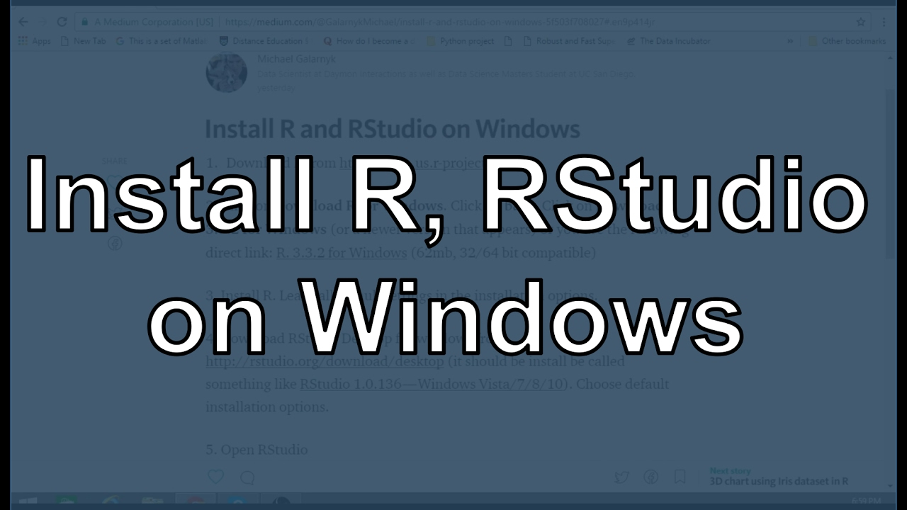 Install R and RStudio on Windows 7, 8, and 10 - Michael Galarnyk