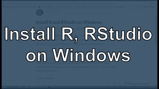 Install R and RStudio on Windows 7, 8, and 10