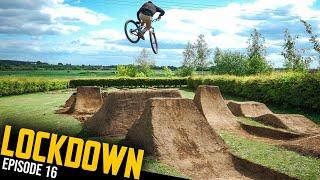 SICK NEW DIRT JUMPS AT THE BACKYARD TRAILS!! LOCKDOWN EP16