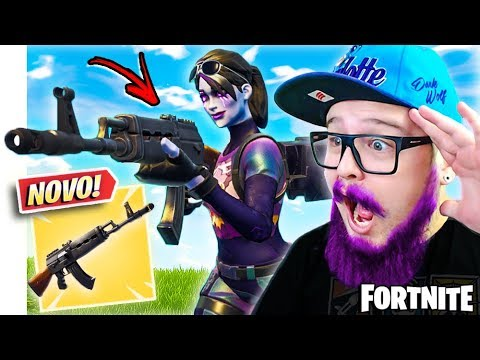 ENCONTREI A *NOVA ARMA* RIFLE PESADO E MITEI - FORTNITE thumbnail