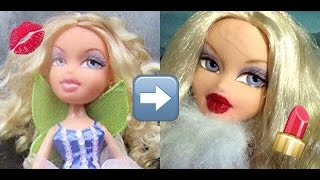 How To Repaint Bratz Doll Lips Using Liquid Lipstick & Acrylic Paint!   AzDoesMakeUp!