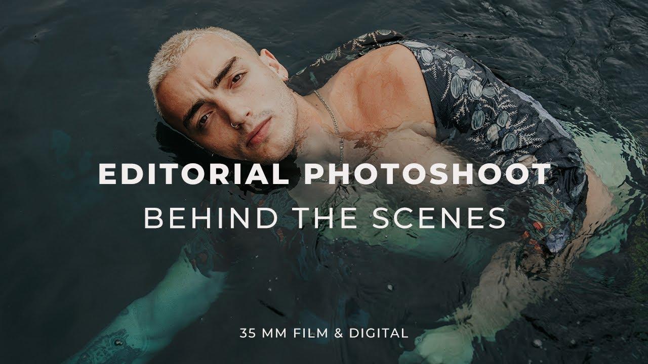 Male Model Fashion Editorial Photoshoot - Behind the Scenes (35mm Film & Digital)