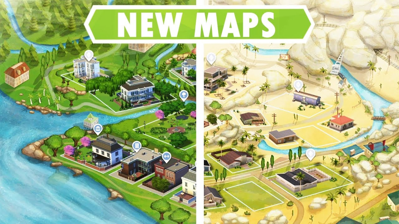NEW WORLD MAPS! [Sims 4 Custom Content]   YouTube
