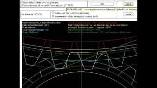 Online gear calculation of spur and helical gears with involute gear