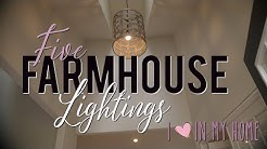 Top 5 Affordable Farmhouse Lightenings | Living it Country |