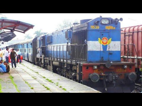 Train Announcement18048 Amravathi Exp+ 22907 Madgaon Hapa Exp departure from Madgaon Railway station
