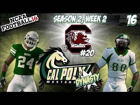 """CAL POLY MUSTANGS DYNASTY   EP 16 """"First Top 25 win?!""""   NCAA FOOTBALL 14 (XBOX 360)   TiedsHD"""