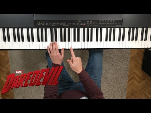 "Cómo tocar ""Daredevil main theme"" en piano. Tutorial y partitura"