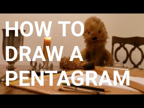 How To Draw A Pentagram EASY!