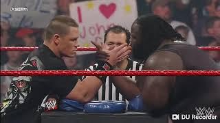 John cena vs Mark henry- arm wrestling contest: Raw,Feb.4,2008