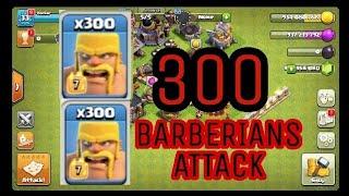 (CLASH OF CLANS) 300 BARBERIANS MASS ATTACK /// SPR MEDIA